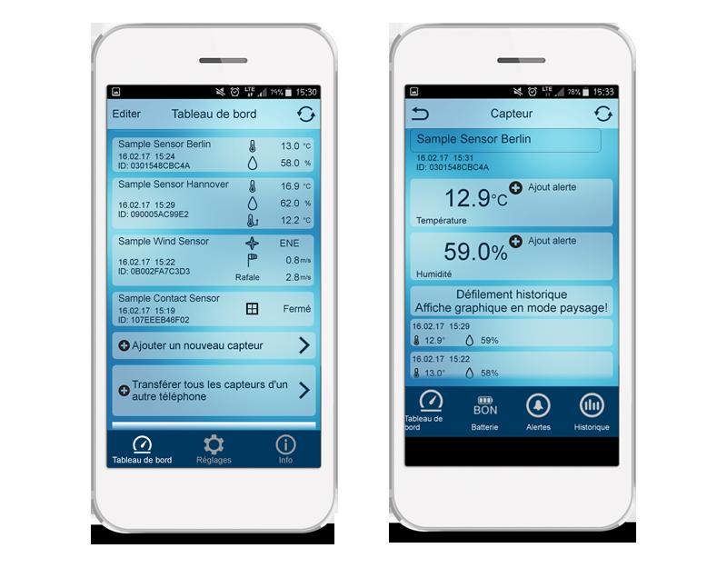 Application Mobile Alerts - Gérez vos capteurs connectés
