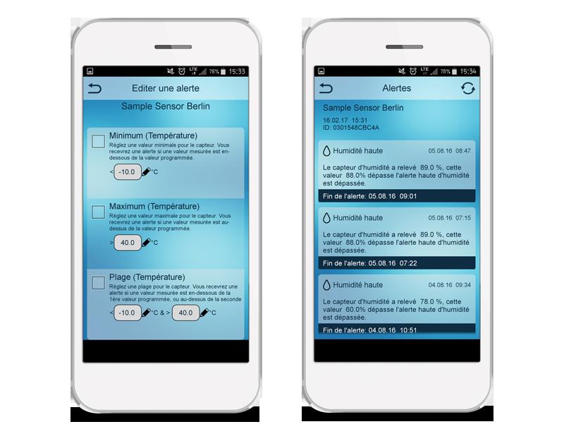 Application Mobile Alerts - Réglez vos alertes