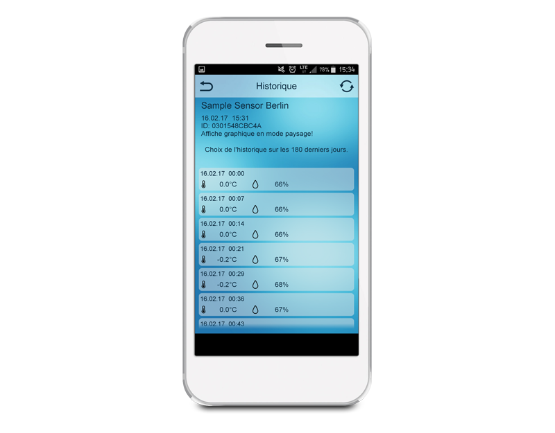 Application Mobile Alerts - Consultez les historiques de données
